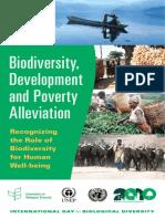 Biodiversidad Desarrollo y Pobreza