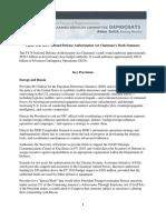 House NDAA Chairman's Summary