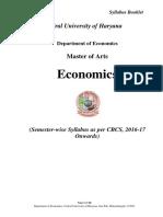 0MA Economics (CBCS 2016-17 Batch Onwards.)