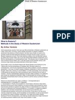 Versluis - 2002 - What is Esoteric Methods in the Study of Western