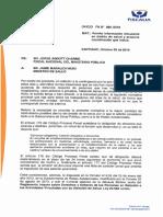 Oficio Fiscal Nacional a Ministro de Salud