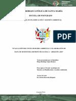 Evaluación Del Nivel de Ruido Ambiental y Elaboración de Mapa de Ruidos Del Distrito de Sachaca, Arequipa 2016