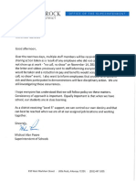 Staff Letter From Supt. Poore 11.21.19