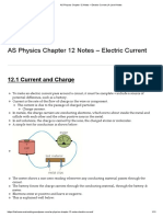 As Physics Chapter 12 Notes – Electric Current _ a Level Notes