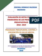 Evaluación Metas Fisicas y Financieras a Octubre Del 2019