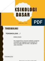 1.1. Toksikologi Dasar