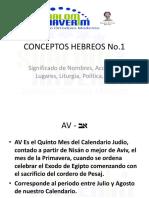 CONCEPTOS HEBREOS 1