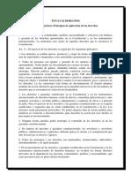 Principios de aplicación de los derechos