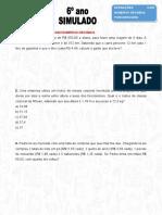 Eureka - Simulado Matemática 6º Ano  Números Decimais e Procentagem (Salvo Automaticamente)