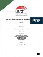 Informe Acerca de Escuelas de La Administración