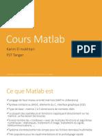 Cours Matlab El Mokhtari Complet