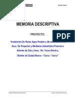 Memoria Descriptiva 2019