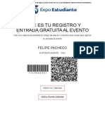 Registration Confirmation Felipe
