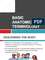 2019 Lesson 2 Anatomical Terms