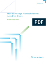 How to Manage Microsoft Teams an Admin Guide