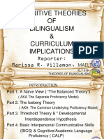 COGNITIVE Theory of Bilingualism