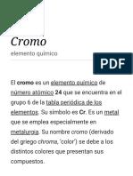 Cromo - Wikipedia, La Enciclopedia Libre