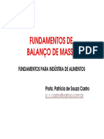 Fundamentos de Balanço de Massa