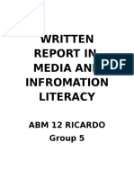 Written Report in MIL