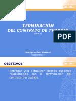 TERMINACIÓN DEL CONTRATO DE TRABAJO
