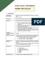 Ficha Tecnica PRO CALCULO