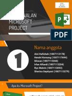 Pengenalan Microsoft Project Kelompok 1