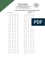Answer Sheet Ncm103