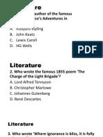Grmmar and Literary Quiz Bee