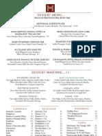 M Waterfront Grill Dessert Menu