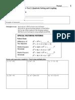 Test2 Review Solvingand Graphing Quadratics