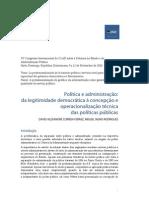 Política e administração