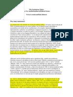 Why Institutions Matter Traducción (Vivien LowndesandMark Roberts)