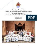 Presidential Address to Synod 2019 Grafton Anglican