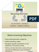 FL Rodriguez - Recycling Overview