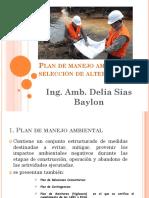 Ponencia 4. Plan de Manejo Ambiental y Selección de Alternativas
