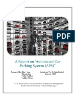 "NEM Feasibility Report on "" Automated Car Parking system (APS)"""