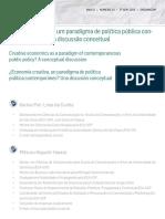 Economia criativa, um paradigma de política pública con-temporâneo? Uma discussão conceitual