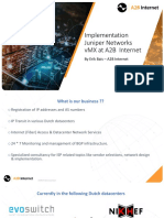 Implementation Juniper Networks VMX at A2B Internet Networks
