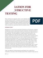 Calibration for Nondestructive Testing