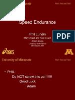 Speed Endurance Presentation