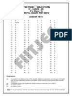 Answer Key Delhi Ntse Stage 1 Mat 2019-20