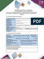 Guía de Actividades y Rubrica de Evaluación - Paso 10 - Presentar Actividad Con Geogebra Para El Proyecto en Blog Colaborativo