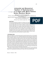 2013 Experimental and Numerical Investigation of Hydrod