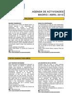 Agenda de Actividades en Madrid Abril 2010