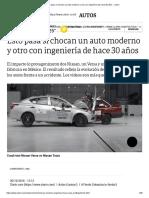 Choque Auto Moderno y Auto Antiguo