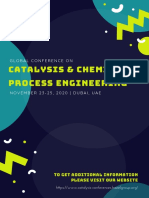 Global Conference on Catalysis & Applied Chemical Engineering (GCC 2020)