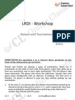 CL LRDI Workshop1