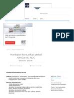 Hambatan Komunikasi Verbal NANDA NIC NOC