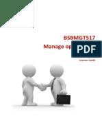 Manage Operational Plan