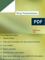 Intro Drug Nomenclature